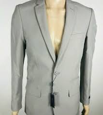 Men Light Gray 3 Piece Slim Fit Suit Groom Tuxedo Formal