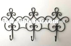 Silver Wall Coat Rack decorative coat rack javi100 81