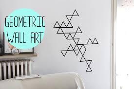 Diy:geometric Wall Art With Washi Tape  Decorazione Da Muro Con For Duct  Tape