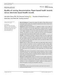 Nursing Charting Guidelines Pdf Quality Of Nursing Documentation Paper Based Health
