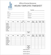 Employee Time Card Template Employee Timesheet Template Free