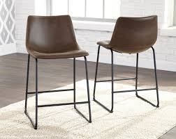 upholstered bar stools. Centiar - Two-tone Brown Upholstered Barstool (2/CN) Bar Stools B