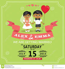 wedding invitation with cartoon indian baby bride and groom stock Animated Wedding Invitation Templates Free Download royalty free vector download wedding invitation Downloadable Wedding Invitation Templates