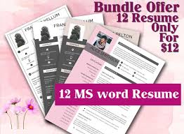 12 Professional Ms Word Resume Template For Best Price Resume