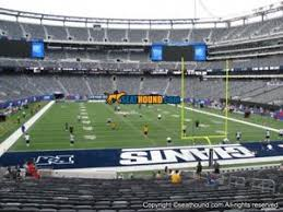 Giants Stadium Football Seating Chart Details About 2 Ny New York Giants Psl Metlife Stadium Section 128 Aisle Seats