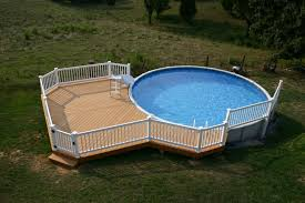 Wooden Pool Decks Pool Contemporary Picture Of Light Brown Oak Wood Above Ground