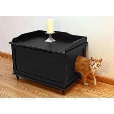 Furniture Box Furniture Dark Wood Hidden Litter Box Furniture With Cushions For