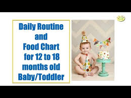 12 To 18 Months Baby Food Chart Daily Routine And Food Chart For 12 18 Months Baby Toddler