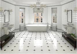 perfect black and white bathroom tile