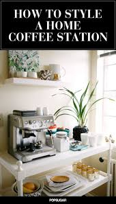 How to Create a Stylish Coffee and Tea Station