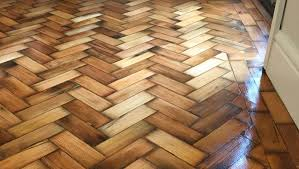 parquet herringbone floor sanded and varnished in northwich