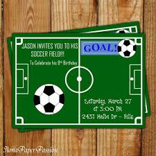 Soccer Party Invite Soccer Themed Birthday Invitations Soccer Party Invitation