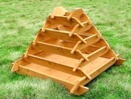pyramid planters how to make a slot together pyramid planter pyramid garden planter designs