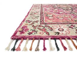 loloi rugs zharah zr 05 rectangular raspberry taupe area rug