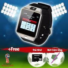 WorldCup] Đồng hồ điện thoại smartwatch DZ09 Tặng thẻ nhớ bút cảm ứng(bạc)  - Đồng hồ thông minh [Hồ Chí Minh]
