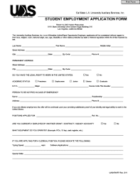106 Printable Generic Application For Employment Form Templates Pdf