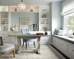 elegant office design. Inspiration For A Transitional Home Office Remodel In New York With Blue Walls Elegant Design