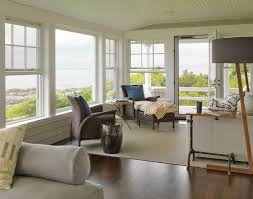 modern sunroom furniture. Sunroom : Cozy Modern Design With Pictures And Sun Porch Furniture Also Tan Rug Plus Wood Flooring Perfected By Floor Lamps Glass N