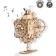 It's all about music boxes. Rokr Wooden Music Box Kit Hand Crank Musical Mechanism 3d Wooden Model Building Kit Orpheus
