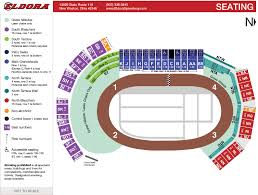 The Pit New Mexico Seating Chart Seating Map Eldora Speedway