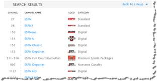 Search Online Channel Lineup  Bright House Networks SupportBrighthouse On The Go