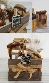 Find gift ideas for caffeine addict friends whose definition of happiness is waking up to coffee aroma drifting through the house on a sunday morning. Diy Hamper A Coffee Lovers Wooden Crate Koch Co Blog