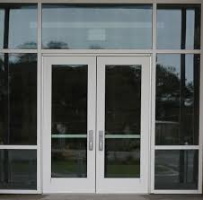 entrance with a double glass door texture