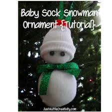 diy baby sock snowman ornament