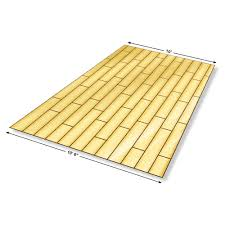 determine if the room is square before installing flooring