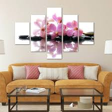 5 pieces canvas photo prints purple orchid wall art picture canvas paintings home decor wall orchid on orchid vinyl wall art with orchid wall art igorzakus
