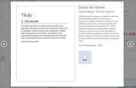 formato de informe en word crear un documento word