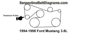 1994 1998 ford mustang 3 8l belt diagram 1994 1998 ford mustang 3 8l