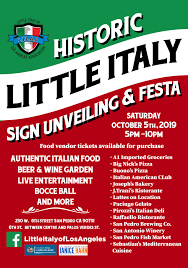 Historic Little Italy Sign Unveiling and Festa - San Pedro Calendar