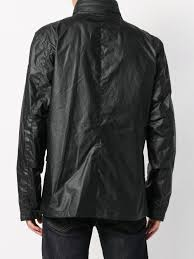 leather patch pocket jacket for men lyst view fullscreen