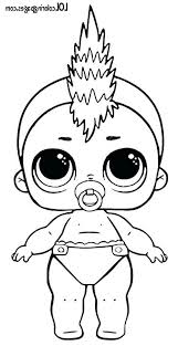 Lol Dolls Coloring Pages Punk Series 3 Wave 2 Surprise Doll Coloring