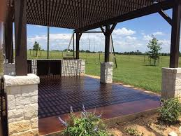 dark brown stain for outdoor patio concrete slab