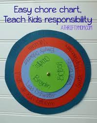 Children S Chore Chart Ideas Easy Chore Chart Teach Kids Responsibility A Thrifty Mom