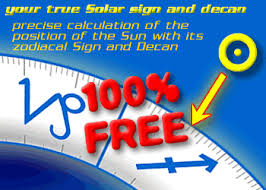 Astrology Decans Chart Astrology Sun Sign And Decan Calculator Online 100 Free