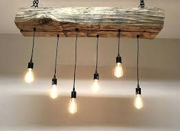 rustic wood light fixtures for over the island reclaimed barn sleeper beam wood  light fixture with .