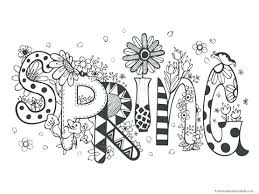 Spring Coloring Pages Free Printable Springtime Fun Weather F