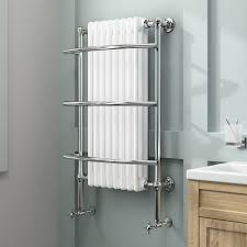 Traditional White Bathrooms Victoria Tall Traditional Ladder Rail Towel Radiator In White