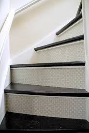 Painted Stair Risers For The Home Pinterest Painted Stair - Painted basement stairs
