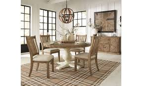 ashley furniture grindleburg round dining table in light brown