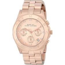 marc by marc jacobs watches for tic watches uk mens and womens mbm3102 blade rose gold chronograph ladies watch in stock marc jacobs