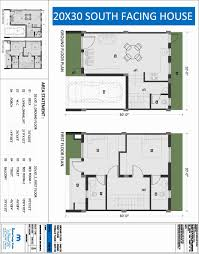 30 40 south facing house plan awesome 20 x 30 square feet house plan awesome south