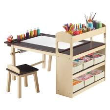 guidecraft deluxe art table and chair set  walmartcom