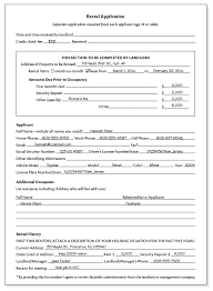 Renters Application Template Sample Of Rental Application Toptier Business