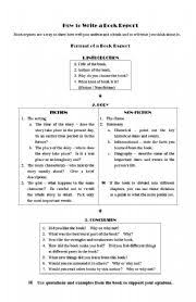 how to write a book report worksheet how to write a book report