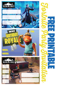 Free Printable Fortnite Party Invitations