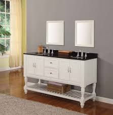White Bathroom Cabinets Wall Bathroom Double Sink Dark Countertop White Bathroom Cabinets